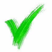 Green acrylic validation V icon