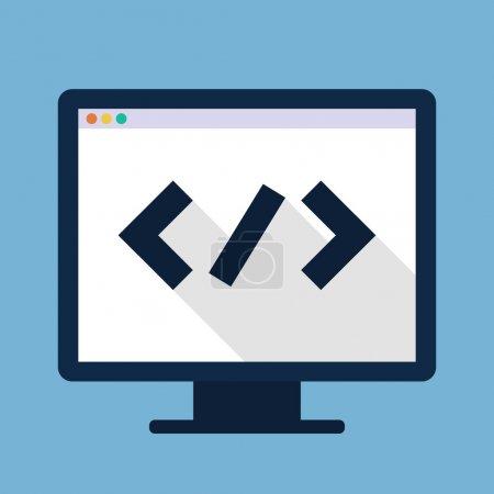 Code flat icon