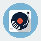 Turntable flat icon