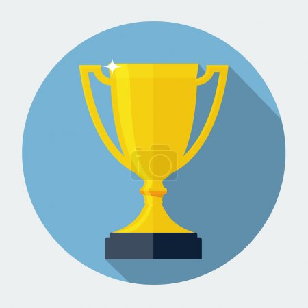 Vector Trophy Cup Flat Icon...