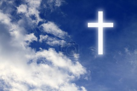 Photo for Religion. Christian cross in the sky - Royalty Free Image