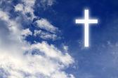Náboženství. křesťanský kříž na obloze