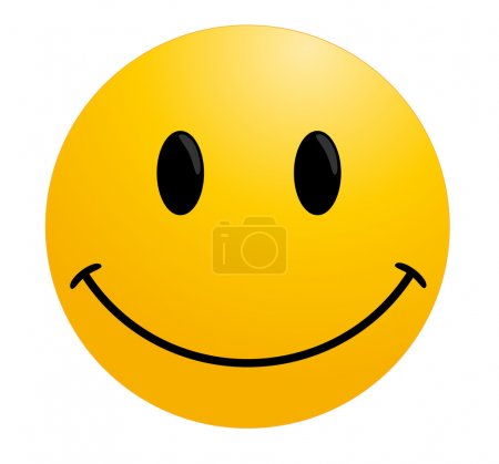 Illustration for Happy smileys face button, or badge, or icon. - Royalty Free Image
