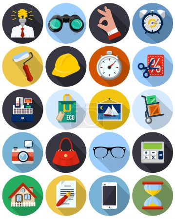 Illustration for Vector flat icons for web ad application - Royalty Free Image