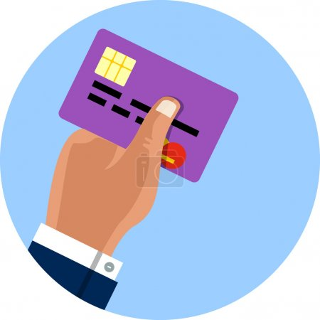 Vector Hand Holding Credit Card