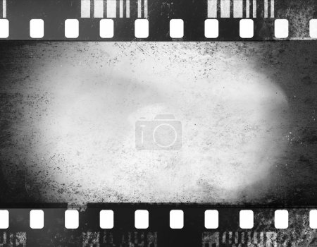 Photo for A black and white grunge film frame with white empty space inside - Royalty Free Image