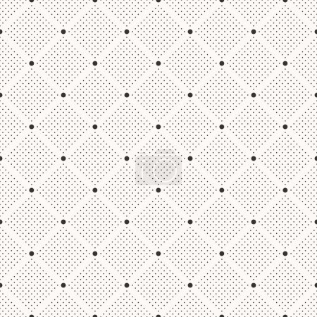Illustration for Seamless dots pattern. Polka dot print. Stylish vector texture - Royalty Free Image