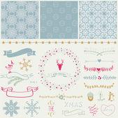 Scrapbook Christmas Design Elements