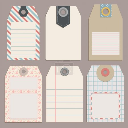 Tags for Design or scrapbooking