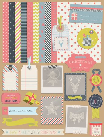 Christmas Scrapbook and Design Elements