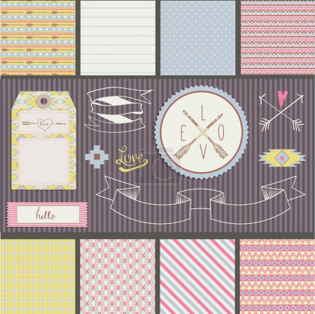 Scrapbook Design Elements with arrow