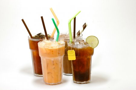 Various types of iced tea...