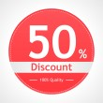 Discount sticker. Vector illustration....