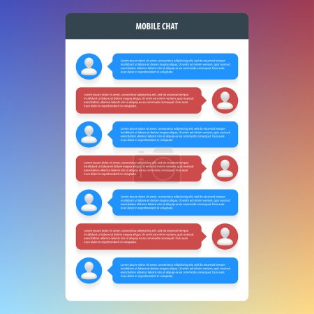 Illustration for Mobile chat. Flat ui design. Vector illustration. Eps 10. - Royalty Free Image
