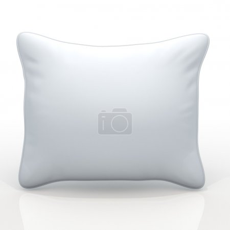 3d clean white pillows