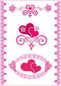Festive hearts