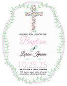 Baptism Card Design on White Background
