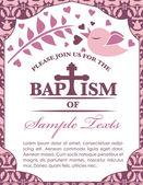 Pattern e battesimo cartolina invito uccello