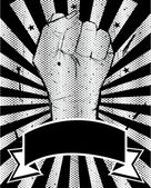 Black and White power poster with hand