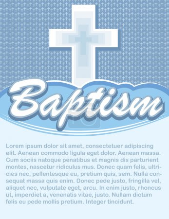 Baptism Card with Cross