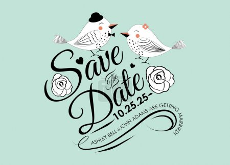 Save the Date Invitation Card Design in Vector