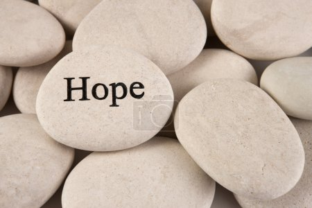 Photo for Close up of stone with engraved word Hope - Royalty Free Image