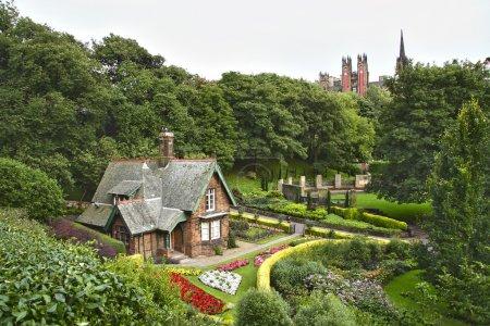 Photo for Idyllic house at Princes Street Gardens, Edinburgh. Scotland. - Royalty Free Image
