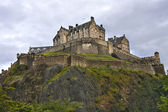 Edinburgh castle in a cloudy day, Scotland.