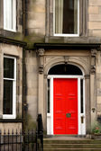 Red door in Edinburgh