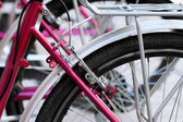 Bicycle detail in pink. Spain.