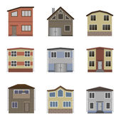 House and building set Home icon collection