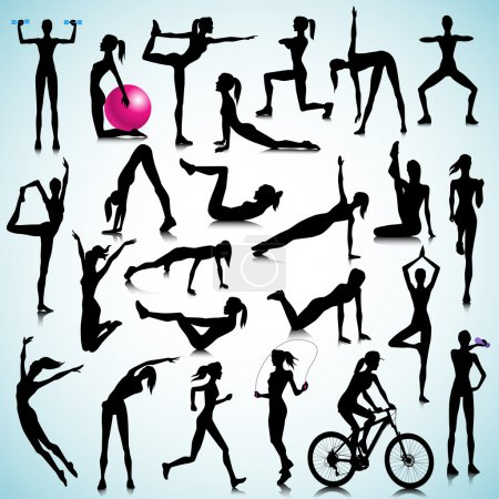 Fitness set of people