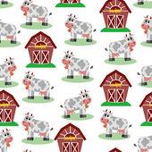Bezešvé vzor s farmu. vektorové ilustrace