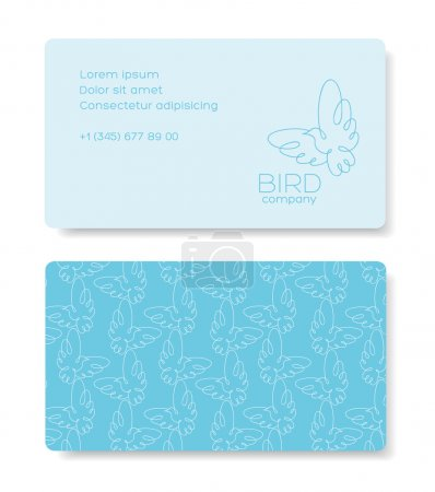 Business cards design with birds