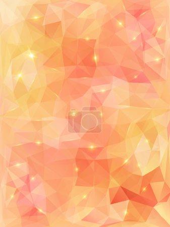 Light orange abstract polygonal background.