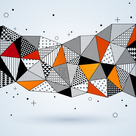 Triangle pattern background.
