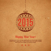 Christmas and New Year 2015 greeting card.