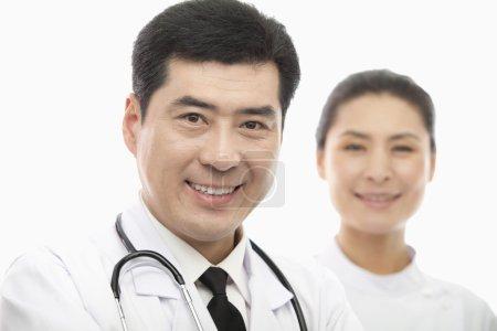Portrait of Doctor and Nurse, Studio Shot