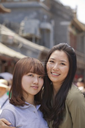 Two young girls in Beijing