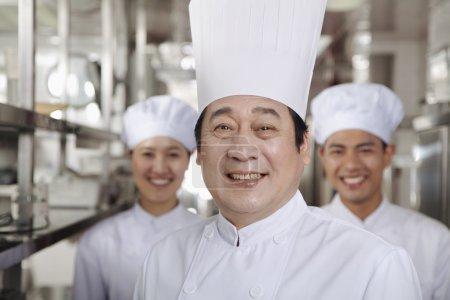Chef in an Industrial Kitchen
