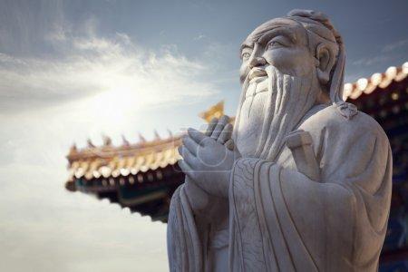 Stone statue of Confucius