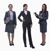 Three young smiling businesswomen