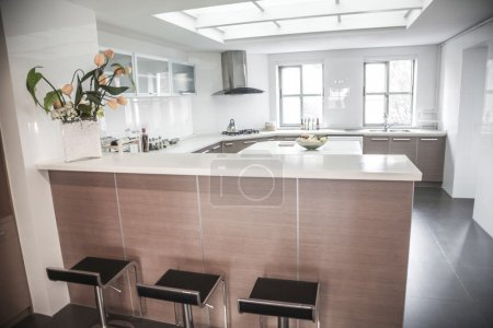 Photo for Large, open, modern kitchen - Royalty Free Image