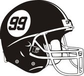 Vector helmet american football
