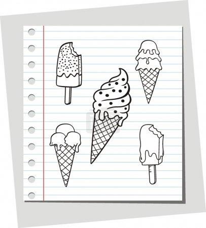 Illustration pour Illustration vectorielle de crème glacée - image libre de droit