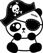 Pirate of panda illustration