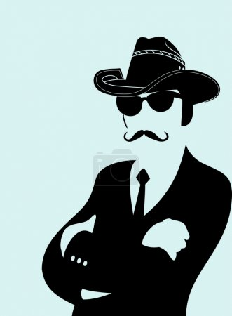 Hat, mustaches and sunglasses