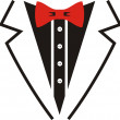 Tuxedo with bow tie illustration of man suit...