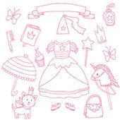 My little princess set Cute vector clip art