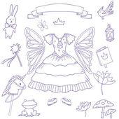 My little fairy princess set Cute vector clip art